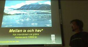Föreläsning om Aareavaara. Foto: Ronny Smeds, Umeå Universitet