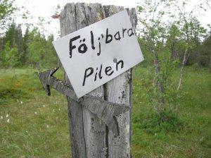 Undrar vart vi hade hamnat om vi valt att följa pilen? © Norrbottens museum