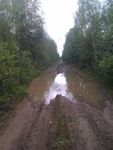 I en del av området i Markbygden fick vi välja att ta en annan väg samma dag som bilden togs, då vägen blev en sjö... © Norrbottens museum