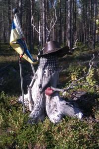 När Olof träffade på ett skogsrå och blev förvandlad till en stubbe... © Norrbottens museum