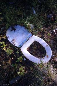 Någon har lämnat en toasits i skogen © Norrbottens museum
