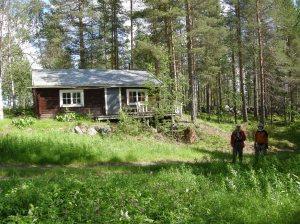 Den ombyggda fäbodstugan, Lidbodarna © Norrbottens museum