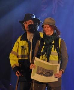 Frida och Olof på catwalk, bld nr 3. Fotograf Kenny Isaksson
