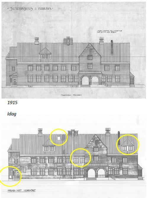 Järnvägsstationen då och nu. genom att jämföra hur byggnaden ser ut idag med äldre ritningar eller fotografier kan man spåra förändringar som skett.