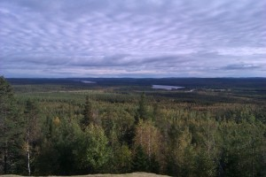 Utsikt från Jupukka, Pajala kommun © Frida Palmbo