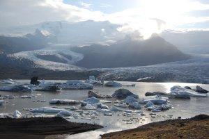 Vattnajökull, Island, får illustrera inlandsisens avsmältning. Foto: Frida Palmbo, © Frida Palmbo