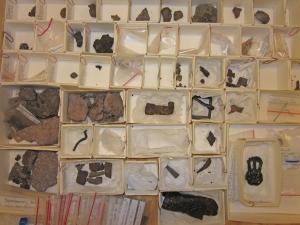 Metallfynd från utgrävningarna vid Sangis 2007