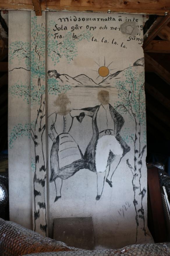 Målning på murstocken