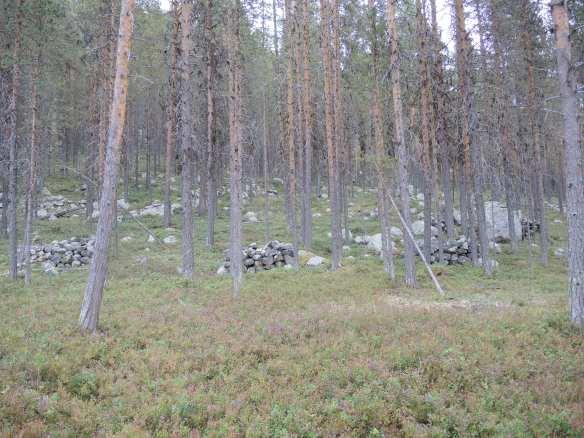 Stenupplag på Kartiberget © Norrbottens museum