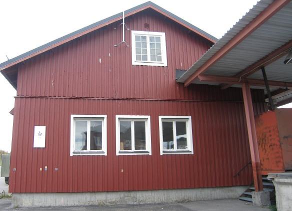 Norra gaveln på Godsmagasinet idag Foto: Jennie Björklund © Norrbottens museum