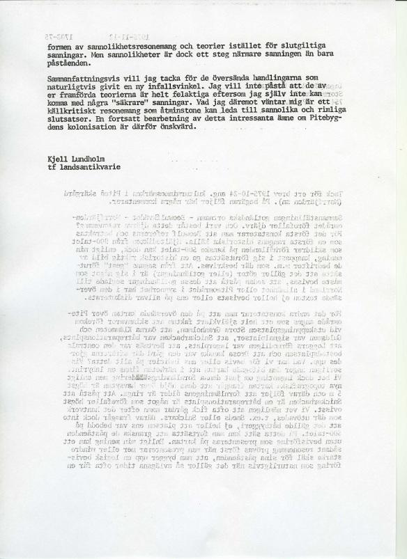Klicka på bilden så kan du läsa den andra sidan av brevet. ©Norrbottens museum