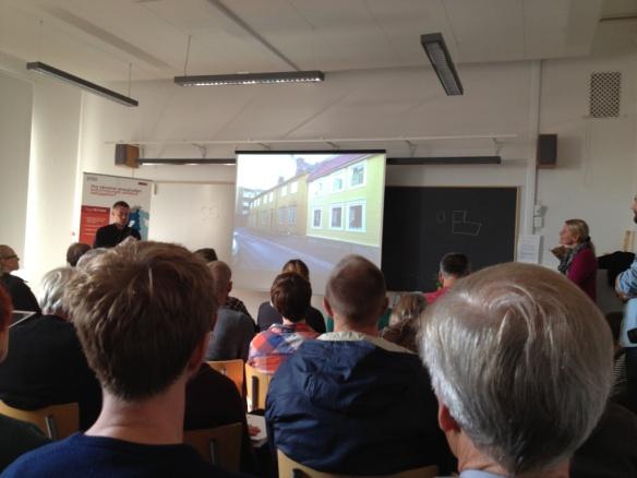 Välbesökt seminarium på Byggnadsvårdskonventet i Mariestad 2013. Foto: Jennie Björklund, privat.
