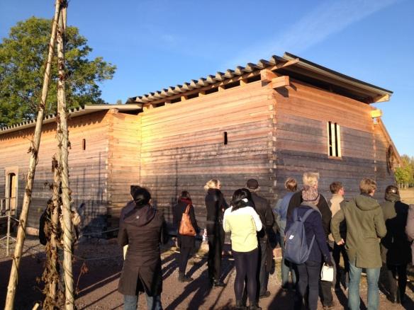 Byggnadsvårdskonventet bjöd även på möjligheten att åka på exkursioner, denna som tog oss förbi Södra Råda projektet var riktigt spännande. Foto: Jennie Björklund, privat.