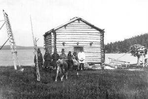 Samiska nybyggare vid Ålloluokta. Foto: C-G Blomqvist © Norrbottens museum