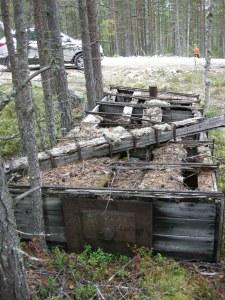 Vattenlåda för isbeläggning av skogsbruksvägar