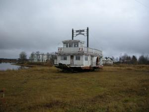 Ångaren och bastuflotten Sippi Belle of Junosuando.