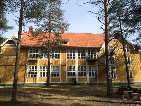 Byggnadens södra fasad, baksidan på gamla Karlsviksskolan. Foto: Jennie Björklund © Norrbottens museum