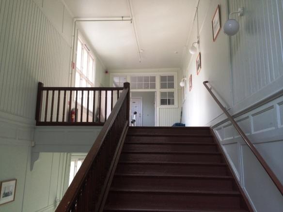 Det största trapphuset i skolan. Foto: Jennie Björklund © Norrbottens museum