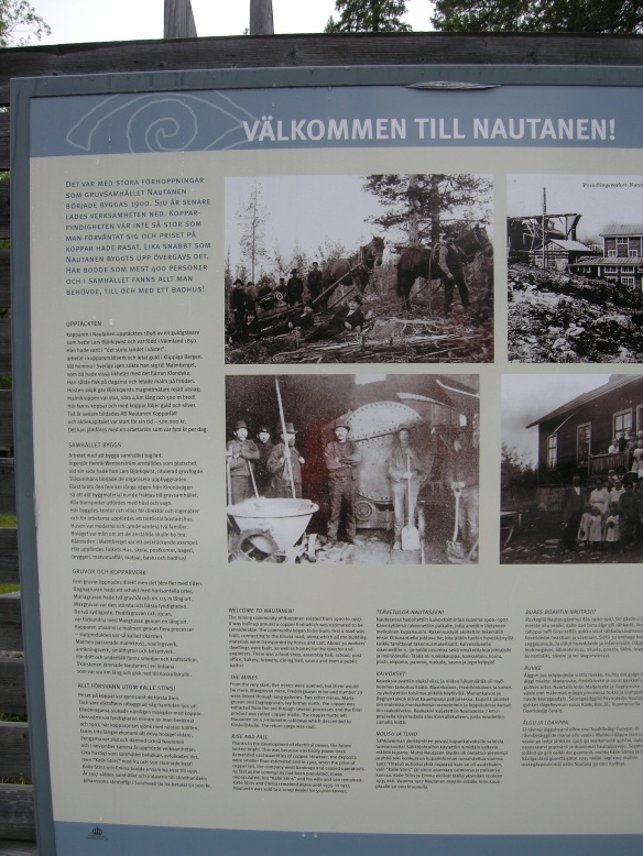En av informationsskyltarna vid Nautanen. Foto: Olof Östlund