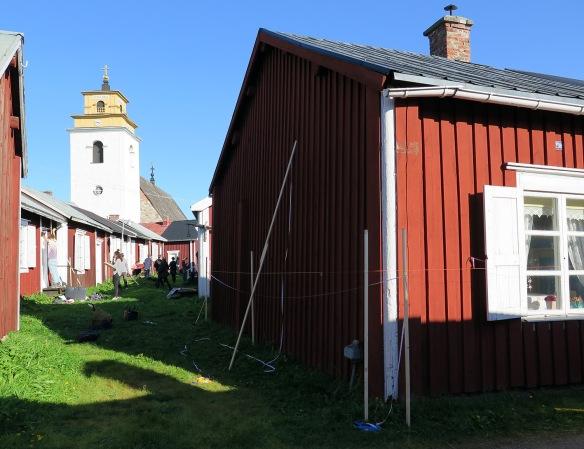 Uppmätning av kyrkstugor i Gammelstad © Jennie Sjöholm