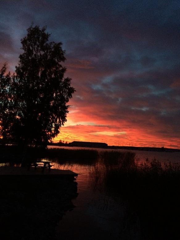 Solnedgång över Vänern. Foto: Jennie Björklund © Norrbottens museum.
