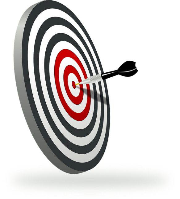 Fokus på målet. (Bilden på piltavlan är från Pixabay)
