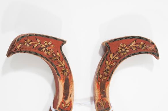 Lokor från Kalix, detalj, fågelhuvuden