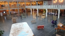 Ny utställning i hallen hösten 2015. Foto: Sophie Nyblom ©Norrbottens museum