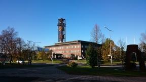 Stadshuset i morgonljus. Foto: Sophie Nyblom ©Norrbottens museum