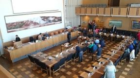 Kommunfullmäktiges sammanträde april 2016. . Foto: Sophie Nyblom ©Norrbottens museum