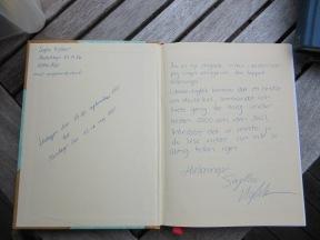 Mina dagböcker inleds ofta med någon form av välkomsttext där jag ber den eventuella läsaren att inte läsa vidare. Foto: Sophie Nyblom ©Norrbottens museum.
