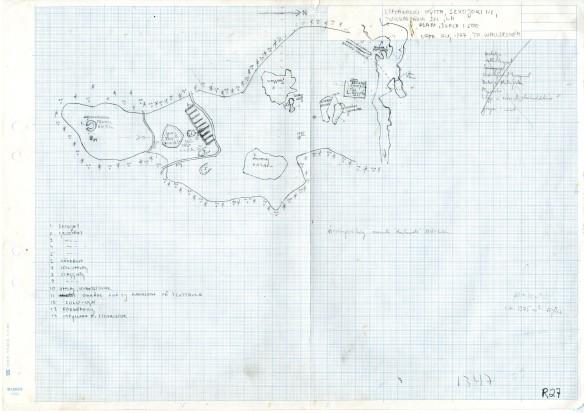 Arkeologisk Ritning över hyttområdetr