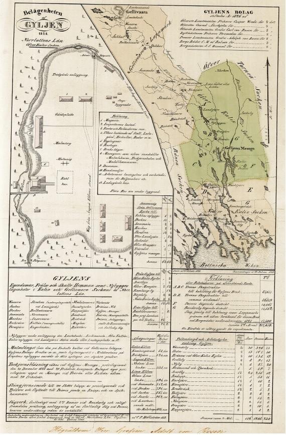 Af Robson karta 1830