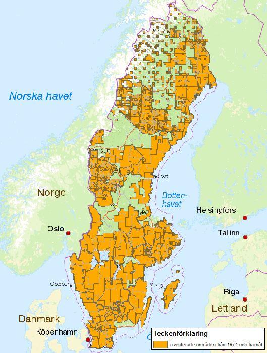 Inventerade områden i Sverige
