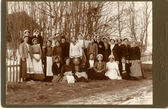 Lanthushållningskurs i Glommersträsk, fotograf P A Lundberg, 1910-tal