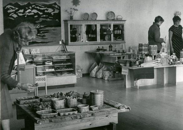 4_Affärsverksamhet_Slöjdhuset, Spantgatan 2, interiör från utställningshallen, slutet av 1970-talet